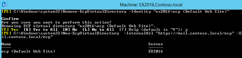 Remove-EcpVirtualDirectory