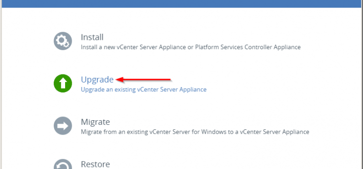 Обновление vCenter Server Appliance 6.0 до 6.5