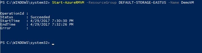 azure from powershell