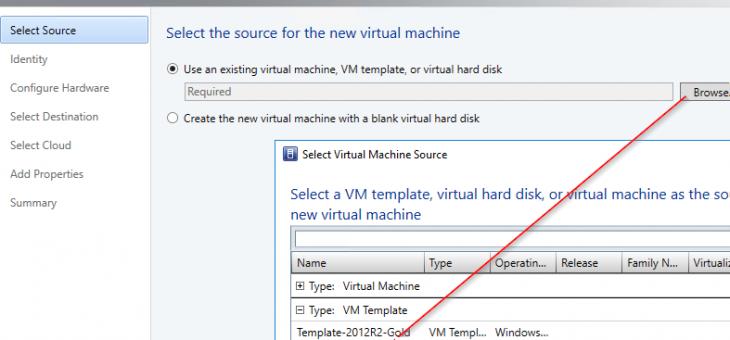 Создание шаблона виртуальной машины Windows Server 2016 в VMM