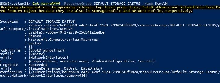 Доступ к Azure из консоли PowerShell