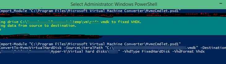 Конвертация виртуальной машины VMware в формат Hyper-V
