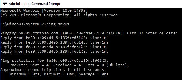 Почему Ping возвращает IPv6 адрес вместо IPv4