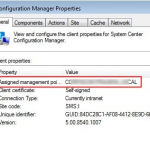 Configuration Manager - assigned managment point