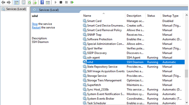 Установка сервера OpenSSH на Windows Server