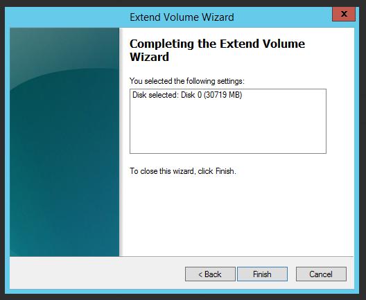диск успешно расширен в windows