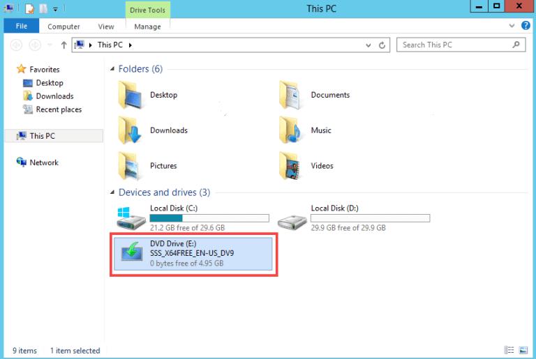 установочный образ windows server 2016