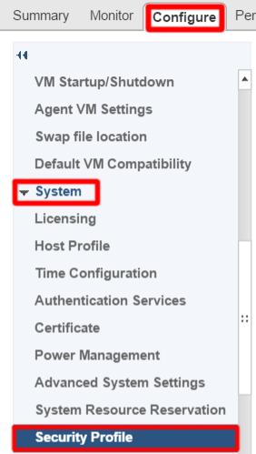 vCenter раздел Security - Profile