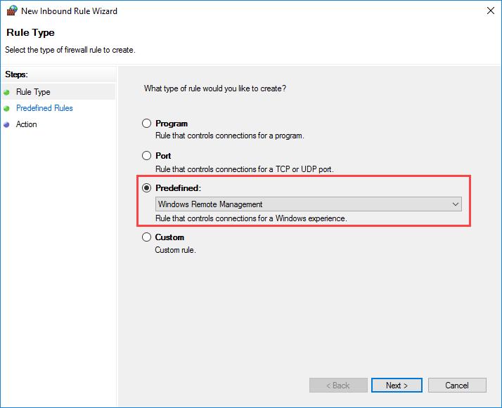 Windows Remote Management - управление исключением брандмауэра