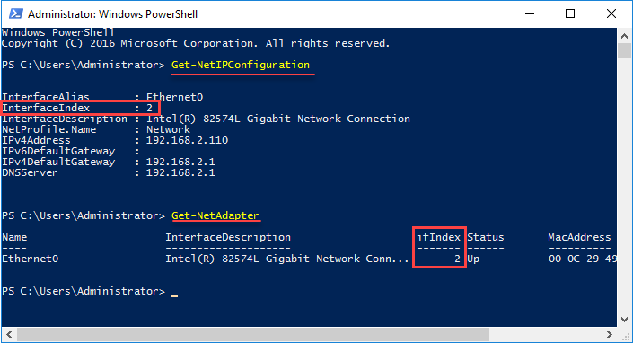 Get-NetAdapter - настройка ip адреса через powershell