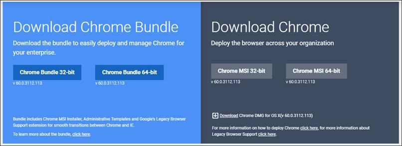 Google Chrome в формате MSI