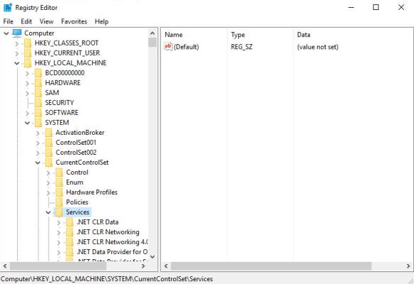настройка зависимостей служб windows в реестре