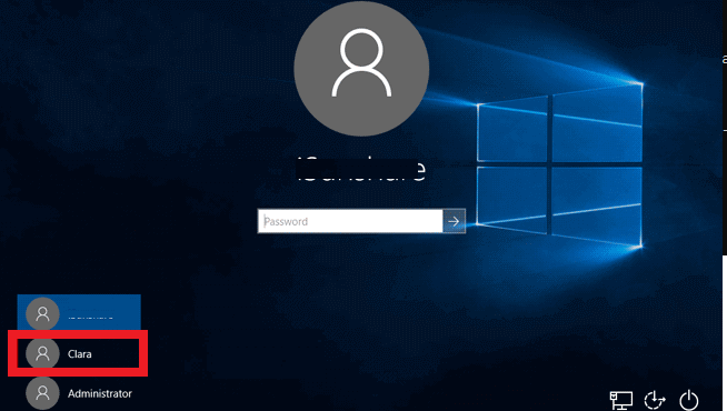 новый пользователь появился на экране входа в систему