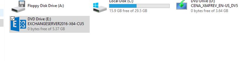 установочный диск Exchange Server 2016