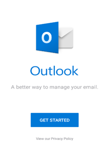 запуск Outlook на смартфоне android