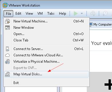 Подключение образа VMDK в VMware Workstation