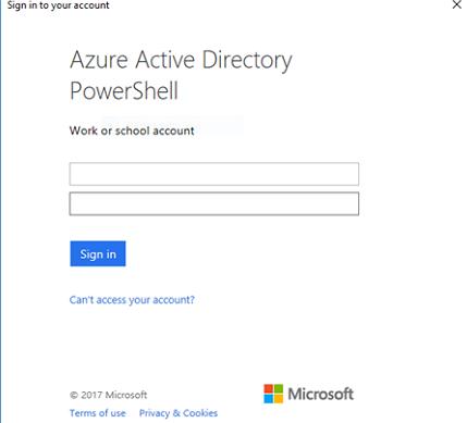Azure Active Directory PowerShell авторизация