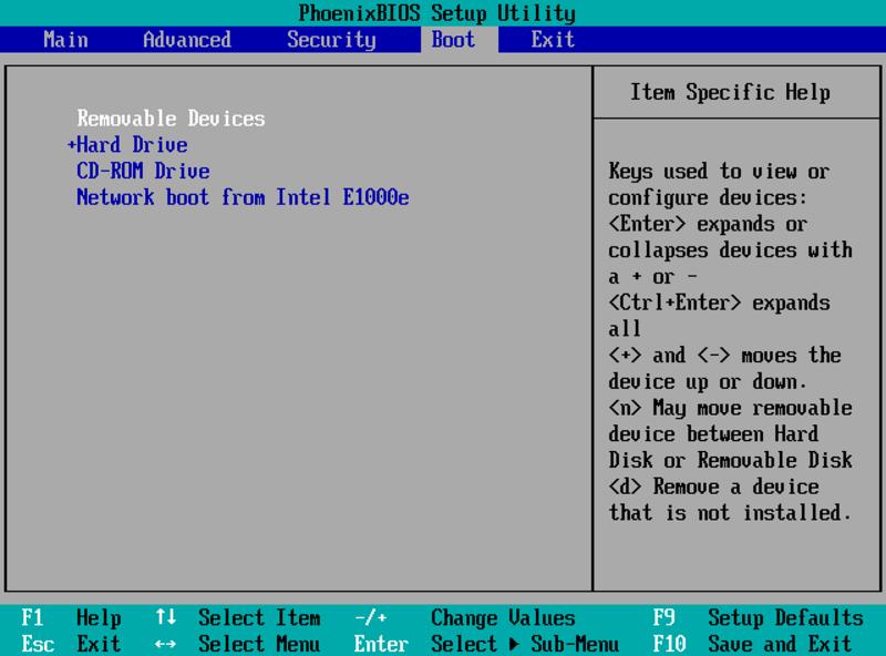Boot device prioriy в Bios - порядок загрузки