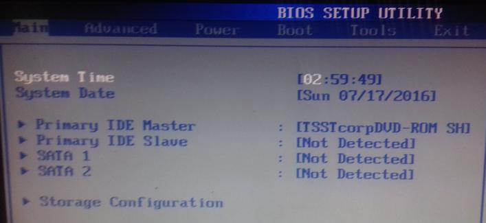 hdd not detected в bios