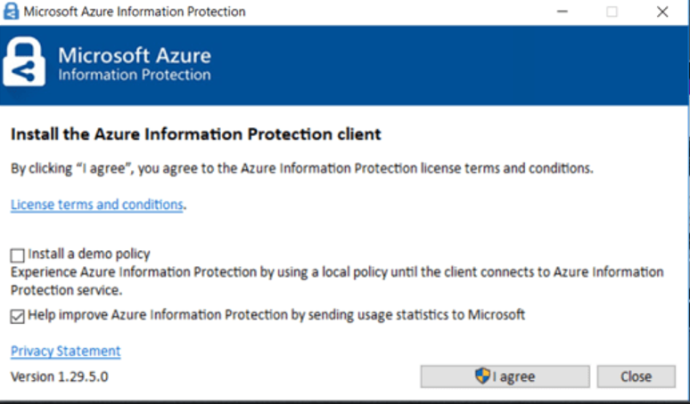 клиент Azure Information Protection для Windows 10