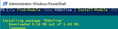 powershell модуль MSOnline