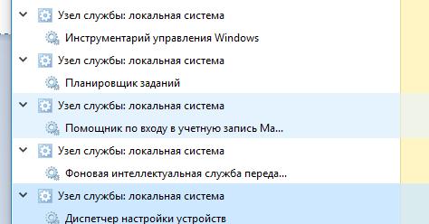 Service Host: Local System в Windows 10