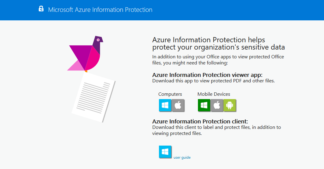 скачать клиент Azure Information Protection