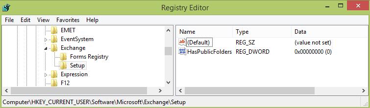 HasPublicFolders - oullook - запретить подключаться к общим папкам