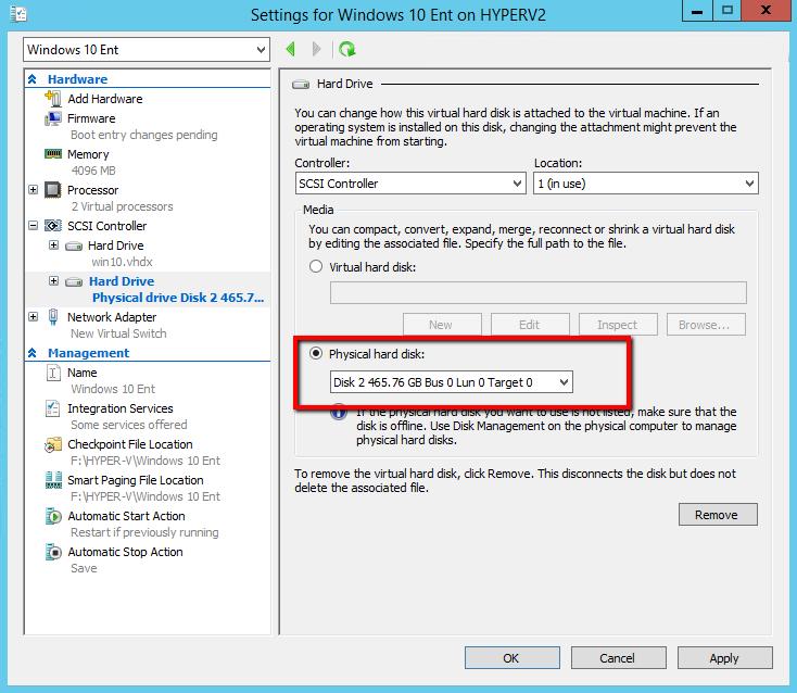 Проброс USB диска в виртульную машину hyper-v