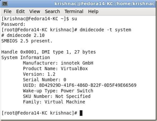 dmidecode Linux