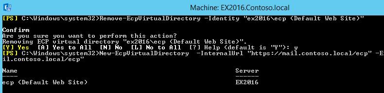 Remove-EcpVirtualDirectory