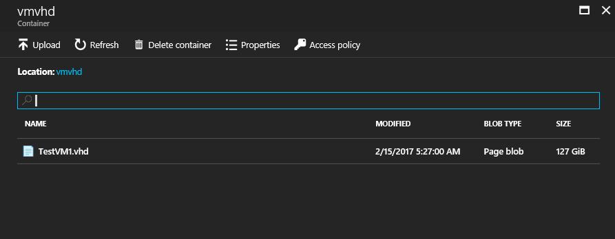 загруженный VHD диск в Azure