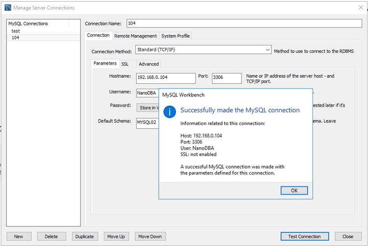 MySQL Workbench - создание нового подключения к БД mySQL