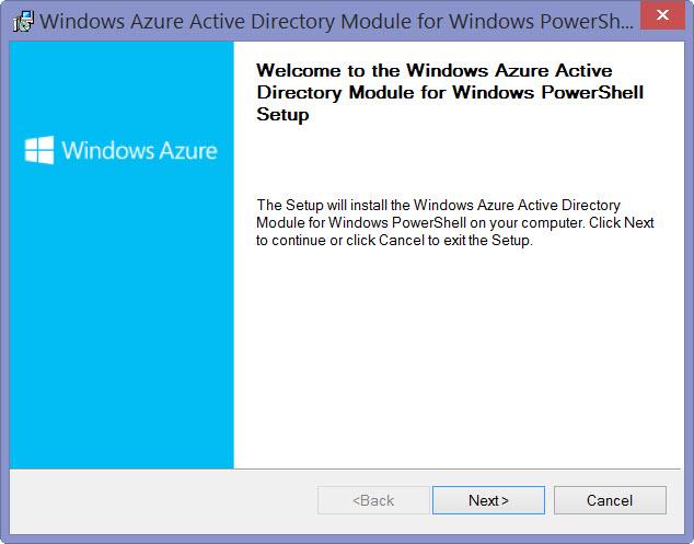 Установка модуля Azure AD для Powershell