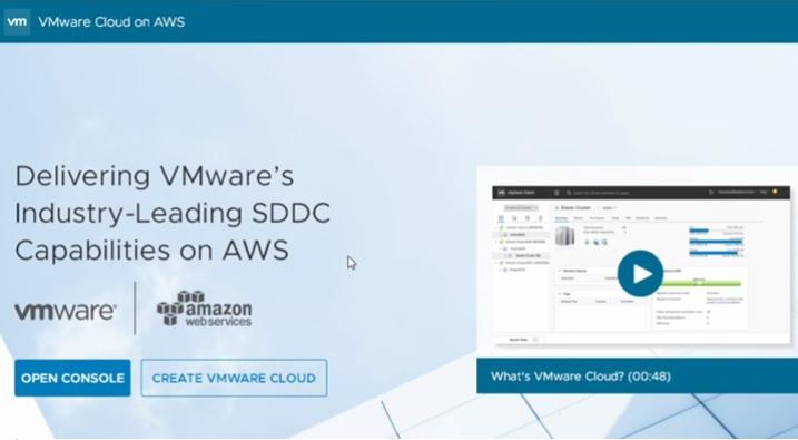VMware vSphere на базе AWS Cloud