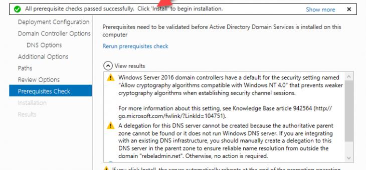 Установка домена Active Directory в Windows Server 2016
