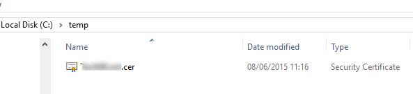 файл сертификата *.cer