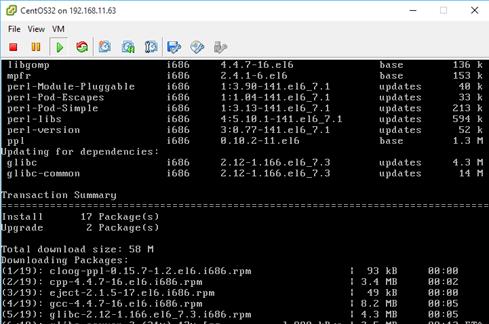 yum –y install kernel-devel gcc dracut make perl eject