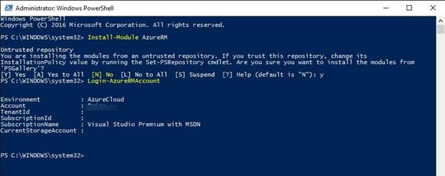 Install-Module AzureRM