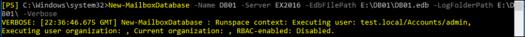 New-MailboxDatabase