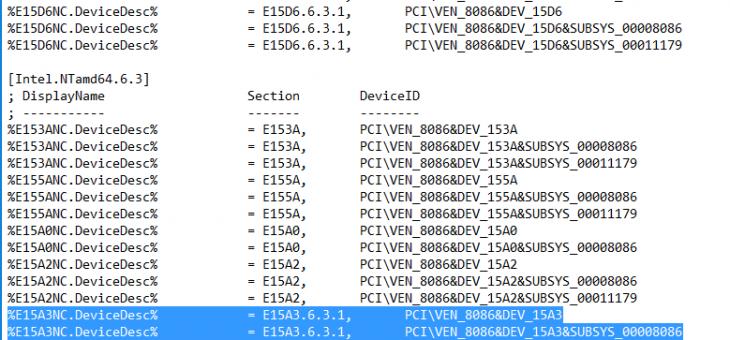 Установка драйвера сетевой карты Intel NUC на Windows Hyper-V Server 2012 R2