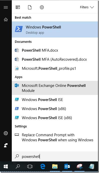Microsoft Exchange Online PowerShell Module