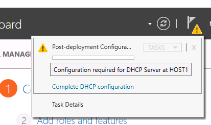 dhcp - post deployment