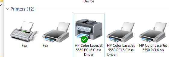 set default printer win 10