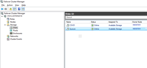 Quorum и CSV том в кластере