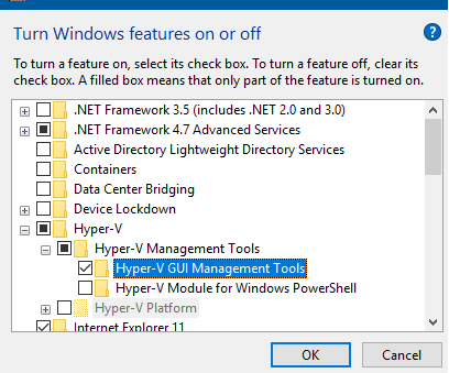 Hyper-V GUI Management Tools