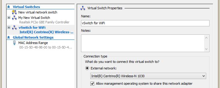 vSwitch для WiFi