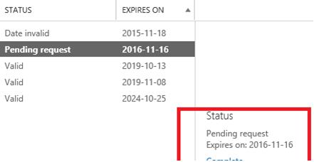 продлить ssl сертификат exchange - генерация файла запроса Pending Request