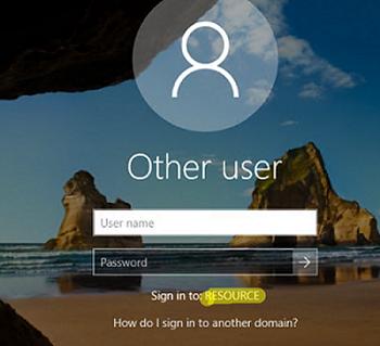 домен для входа на экране привествия Windows