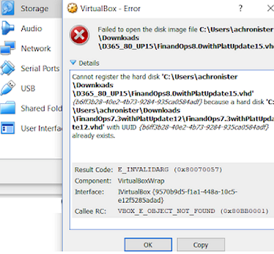 ошибка регистрации диска VirtualBox  Cannot register the hard disk FilePath.vhd <GUID> because a hard disk DifferentFilePath.vhd with UUID <GUID> already exists